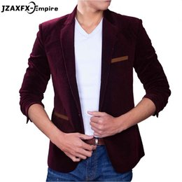 Les Affaires De Gros Font L'affaire Des Hommes Pas Cher-Vente en gros - Brand New Slim fit Jacket Blazer pour homme Corduroy Fashion Luxury Business Casual Suit Male blazer masculino Blazer Men