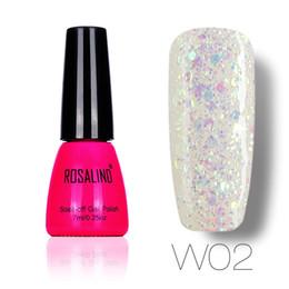 Diamond Uv Canada - Wholesale-[Poland Group]ROSALIND Diamond Glitter UV Nail Gel Polish Soak Off Led UV Gel Nail Polish Use With Base Top Gel Polish