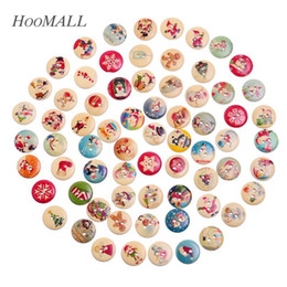 $enCountryForm.capitalKeyWord Canada - Hoomall 100PCs Christmas Pattern Wooden Buttons DIY Scrapbooking Ornaments Sewing Accessories Random Mixed