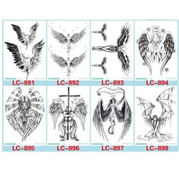 $enCountryForm.capitalKeyWord Canada - Devil Hole Cool Feather Wings Tattoo Designs Temporary Tattoos Man With Demon Angels Wing Modern Body Tattoo 8 Different Styles