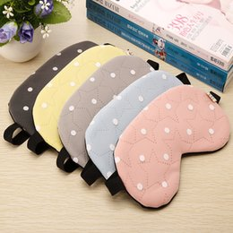 Barato Olhos Bonitos Do Remendo Do Sono-1pcs Soft Travel Sleep Ice Rest Aid Eye Mask Cover Eye Patch Máscara de dormir Case Cute Five StarDot Pattern Sleeping EyePatch