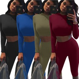 $enCountryForm.capitalKeyWord Canada - Women Sexy Long Sleeve Jumpsuit Solid bodycon Rompers Jumpsuit Catsuit bodysuit Crop top tight pants yoga clothes night club dress KF5365