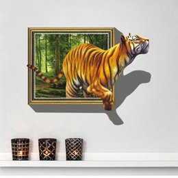 $enCountryForm.capitalKeyWord Canada - 8001 Free Shipping to Russia Brazil Wall Stickers 3D Tigers Picture Frame Extra Large PVC Removable Kids Room Wall Decal