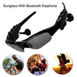 mp3 sun glasses NZ - Smart Glasses Bluetooth V4.1 Sunglass Sun Glass Sports Headset MP3 Player Bluetooth Phone Wireless Earphones Bluetooth Eyeglasses