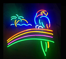 Discount parrot display - Fashion Handcraft Rainbow Parrot Real Glass Tubes Beer Bar Pub Display neon sign 19x15!!!Best Offer!