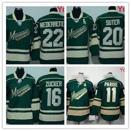 777dbbafe 20 Stitched Green NHL New Men Minnesota Wild 20 RYAN SUTER 11 Zach Parise  16 Jason Zucker 22 Nino Niederreiter ...