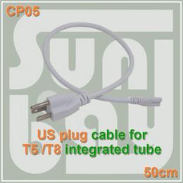 c9821c83b Frete grátis T5 T8 cabo de conexão de cabos de Alimentação com padrão EUA  plug para T5 T8 tubos de led integrados 3 Prong 50 cm Cabo