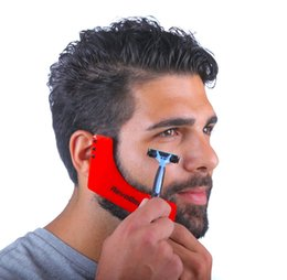 trimming beards 2019 - 2017 Red Beard Shaping Comb Styling Template Shaping Beard Mold Trimming Lines Modelling Tools for Man discount trimming