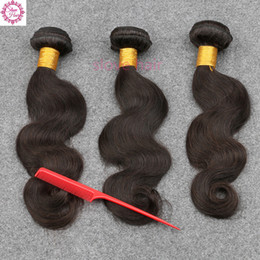 $enCountryForm.capitalKeyWord Canada - Unprocessed Brazilian Virgin Hair Body Wave Bundles,3Pcs Lot Remy Human Hair Extension,8~30 Inches Slove hair