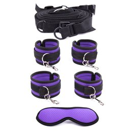 Sex blindfoldS online shopping - Mature Housewife Under Bed Restraints Bondage Gear with Blindfold Foreplay Leg Cuffs Handcuffs Fetish Fantasy Play Sex Toys for Couples