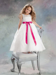 $enCountryForm.capitalKeyWord NZ - White Lace Sash Jewel Ball Gown Net Baby Girl Birthday Party Christmas Princess Dresses Children Girl Party Dresses Flower Girl Dresses
