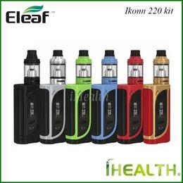 Discount box mod tc - Authentic Eleaf iKonn 220 with ELLO Starter Kits with iKonn 220w TC Box Mod 2ml 4ml Ello Tank