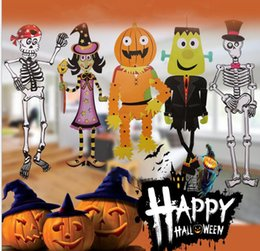 halloween prop hanging paper grim decoration reaper scary outdoor decor halloween decoration diy skeleton zombie witch decoration kka2817 inexpensive - Discount Halloween Decor
