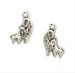 Findings For Jewelry Making Canada - 300PCS lot zinc alloy Giraffe Charms Antique Silver Plated Pendant Bracelet for DIY Jewelry Pendant Charms Making Finding 20x14mm
