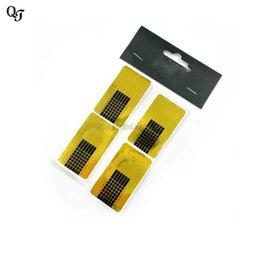 Nail art square desigN online shopping - New Nail Forms Nail Art Salon Paper Care Guide Sticker Acrylic UV Gel Tips Square Design Nail Art Forms Guide Tools