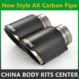 vw accessories Canada - 1PCS Exquisite style Inlet (51mm) Outlet (76mm) Akrapovic Carbon Fiber Exhaust pipe Exhaust End Tips For BMW Audi VW Accessories