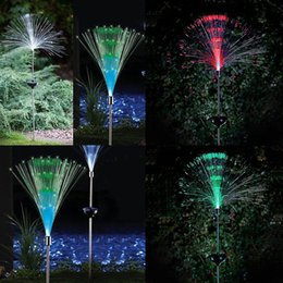 $enCountryForm.capitalKeyWord NZ - Wholesale- 2pcs fiber optic Colorful changing led solar light outdoor lighting waterproof garden light christmas lamp