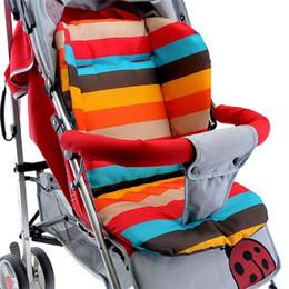 Bebê Infantil Stroller Assento Pushchair Almofada Mat Algodão Rainbow Color Macio e Espesso Carrinho De Bebê Almofada Cadeira Almofada Do Assento de Carro BB