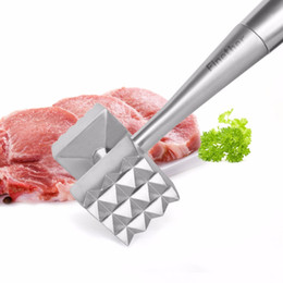 meat blades UK - Meat Tenderizer Hammer Two Sides ABS Plastic Blade with Silver Head Black Handle Beef Pork Chicken Beater Meat Hammer Mallet Tenderizer