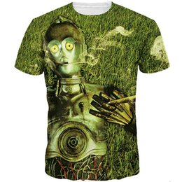 $enCountryForm.capitalKeyWord NZ - Robot smoke T shirt Android lie short sleeve Street style tees Cool printing clothing Unisex cotton Tshirt