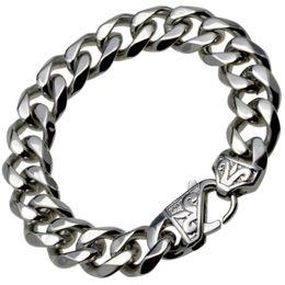 23cm Silver Bracelets Australia - b188- Silver Tone Stainles s steel Mens bracelet CUBAN CURB LINK (13.5mm) 19cm 20cm 21cm 22cm 23cm 24cm length