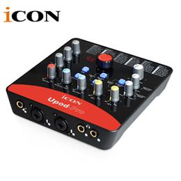 Икона upod профессиональная внешняя звуковая карта 2 mic-In/1 гитар-в, 2-Out USB интерфейс записи 48V оборудованное фантомное питание
