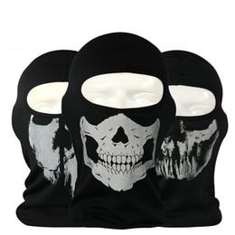 20 шт. новый призрак череп Маска скелет шляпы тактический косплей костюм армия Балаклава капот мотоцикл велосипед Хэллоуин анфас маски