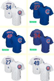 34d454b63 ... Flex Base 2016 All-Star 2017 Mens Chicago Cubs 27 Addison Russell 49  Jake Arrieta 34 Jon Lester White Blue 2016 ...