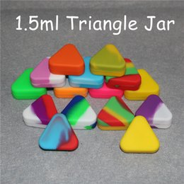 Silicone Toys Australia - Wholesale Silicone Wax Oil Container 1.5mL 12*34mm triangle Containers Silicone Oil Jars Wax Concentrate Wax Containers Free Shipping DHL