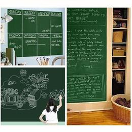 Discount Wall Paper Murals For Sale Hot Sale 45x200cm Removable Blackboard  Stickers Chalkboard Wall Sticker Chalk Part 57