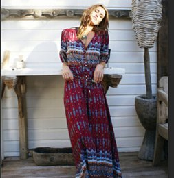 2017 New Bohemian Printing Long Dress Women Summer Maxi Floral Print Retro Hippie Vestidos Chic Brand Clothes Boho