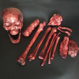 halloween rotting plastic bones life size bones 14pieces for escape house halloween props halloween decoration - Halloween Props For Sale