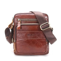Chinese  Genuine Cow Leather Men Bags ipad Handbags Male Messenger Bag Man Crossbody Shoulder Bag Men's Travel Bags Hot Sale manufacturers