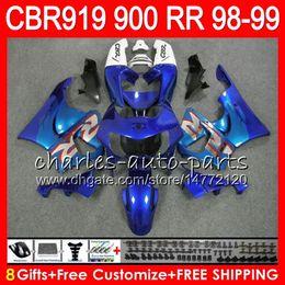 $enCountryForm.capitalKeyWord NZ - Body For HONDA CBR 919RR CBR900RR CBR919RR 1998 1999 Glossy blue 68NO31 CBR 900RR CBR919 RR CBR900 RR CBR 919 RR 98 99 Fairing kit 8Gifts