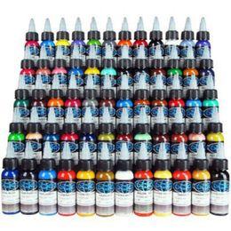 Nova Tinta De Tatuagem Fusão 60 Cores Set 1 oz 30 ml / Kit Pigmento Tatuagem Garrafa TI601-30-60 Frete Grátis