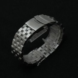 fashion stainless steel bracelet Canada - Fashion New Mens Solid Stainless Steel Silver matte Bracelet Watch Band Strap 18mm 20mm 22mm 24mm 26mm Fold Clasp with Safety Free Shipping