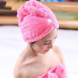 One tOwel online shopping - Shower Cap Superfine Fiber Dry Hair Cap Water Uptake Kerchief Wipe Ones Hairs Wrap Hat Towel Quick Drying xx C R