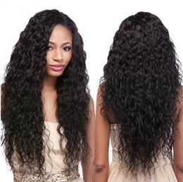 women human hair wig Canada - Glueless Full Lace Human Hair Wigs with Baby Hair Peruvian Water wave Lace Front Wigs For Black Women FDSHINE
