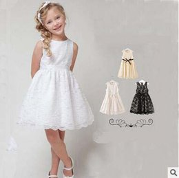 215b114fdf 3 style wedding dress solid lace sleeveless cotton dress prom princess dress  Flower girl skirt kid s clothes baby Girl s blouse