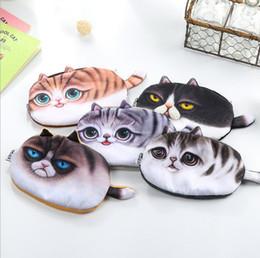$enCountryForm.capitalKeyWord Canada - New Small Tail Cat Coin Purse Cute Kids Cartoon Wallet Kawaii Bag Coin Pouch Children Purse Holder Women Coin Wallet student stationery bags