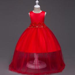 $enCountryForm.capitalKeyWord NZ - Elegant Flower Girl Dresses Floor Length Corest Back First Communion Dresses For Girls Wedding Prom Dresses