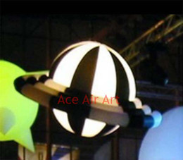 $enCountryForm.capitalKeyWord Canada - 1.5 meter diameter party decoration beautiful ceiling hanging black and white strip Inflatable UFO dome for stage decorations in the USA