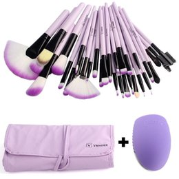 makeup brush cleaning kit NZ - Pro Vander 32 Pcs Makeup Brushes Bag Set Foundation Powder Pinceaux Maquillage Cosmetics Brush Tools +Cleaning Egg Brush egg