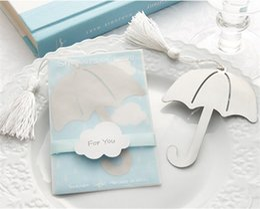 $enCountryForm.capitalKeyWord Canada - 200pcs lot Mini umbrella Metal Bookmark Clips wedding decoration baby show favor Bookmarks Stationery Gift book marker