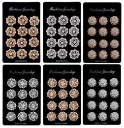 Ingrosso 12Px cristalli spille fiore floriato bouquet da sposa spilla kit pin