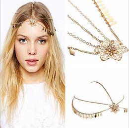 $enCountryForm.capitalKeyWord NZ - 36PCS Beautiful flower hair accessories Wedding Bridal Hair Accessories Beaded Pearls Head Chain Indian Women Hair Jewelry F303