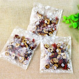 Discount biscuit snack bags - New DIY 400pcs lot small white roses open top Snack bags Lovely Biscuits Bread Cookie Gift Bag 4 sizes Wholesale