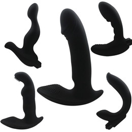Plastic for anal online shopping - Anal Vibrator G Spot Vibrators Prostate Massager Silicone Dildo Male Masturbation Anal Stopper Butt Plug Anal Sex Toy for Men H8