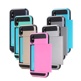 Sliding business card holder online sliding business card holder heavy duty business card case holder for apple iphone x 8 6 6s 7 plus samsung galaxy note8 s8 plus mobile phone case with slide card reheart Choice Image