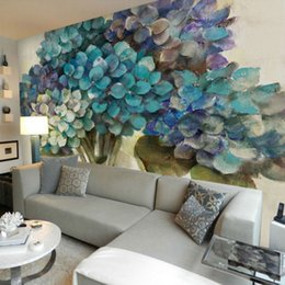 New Arrival 3d Custom Photo Wall Murals Living Room Bedroom TV Wall  Abstract Art Blue Trees Part 78